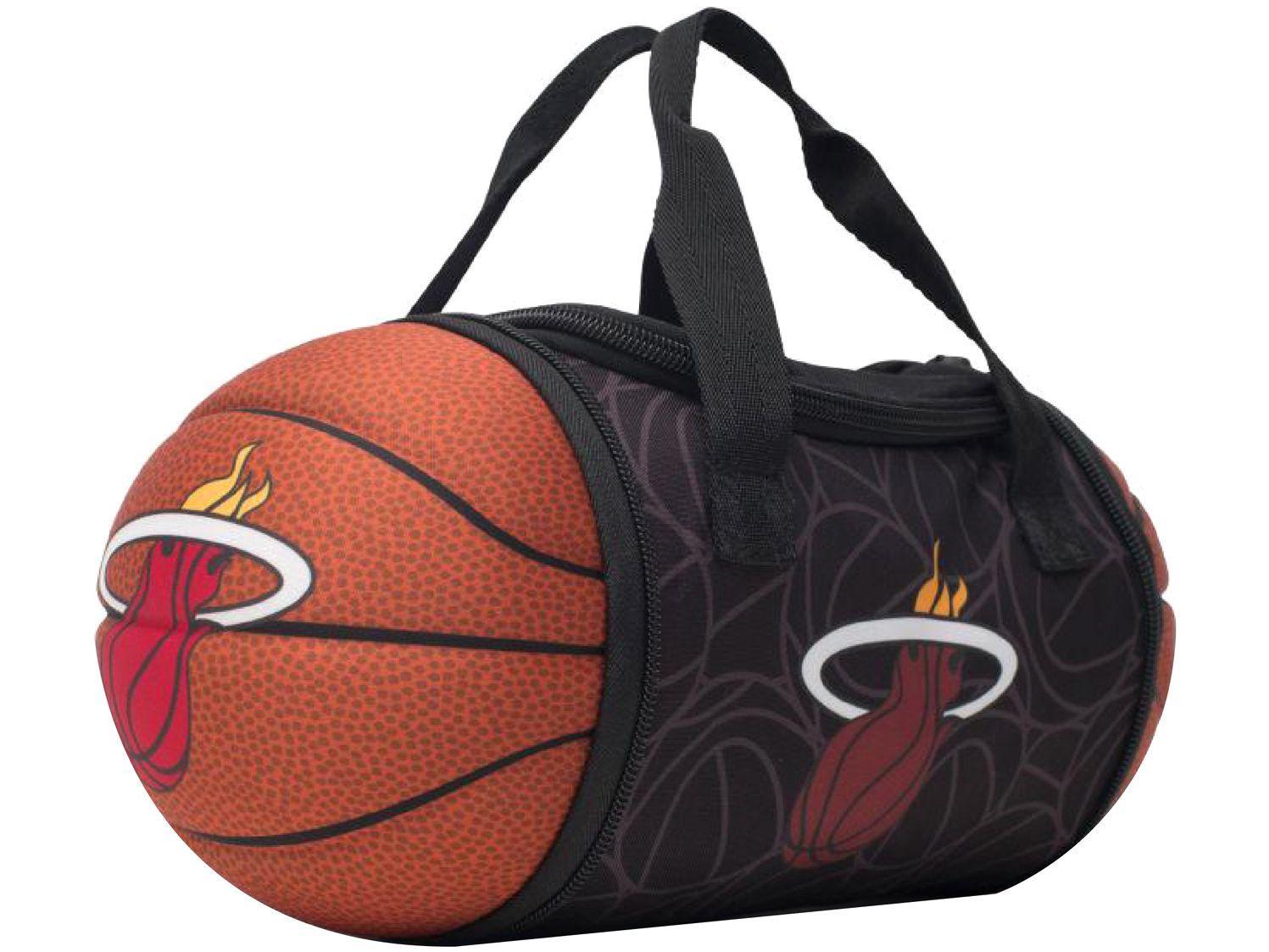 Bolsa Térmica Maccabi Art 4,7L Miami Heat - Preto e Laranja