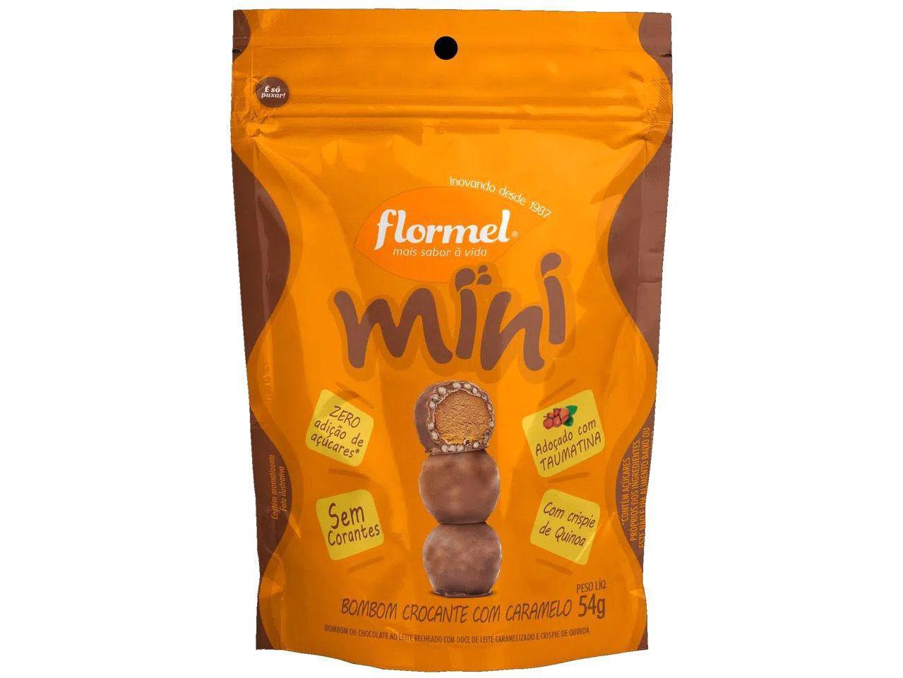 Mini Bombom Flormel Ao Leite com Recheio - de Doce de Leite Caramelizado e Crispies de Quinoa