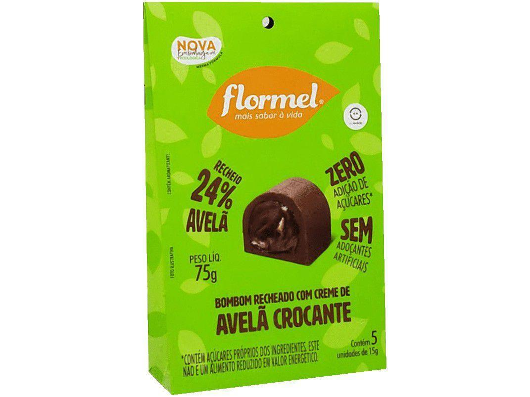 Bombom Flormel Avelã Crocante Ao Leite - Zero Açúcar 75g