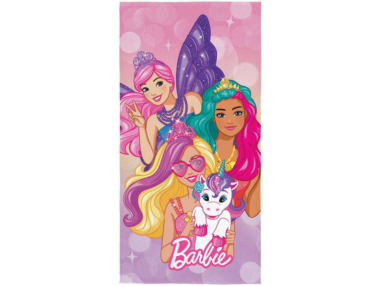 Toalha de Banho Infantil Lepper Algodão - Aveludada Barbie