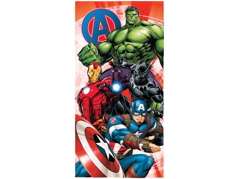 Toalha de Banho Infantil Lepper Algodão - Aveludada Avengers