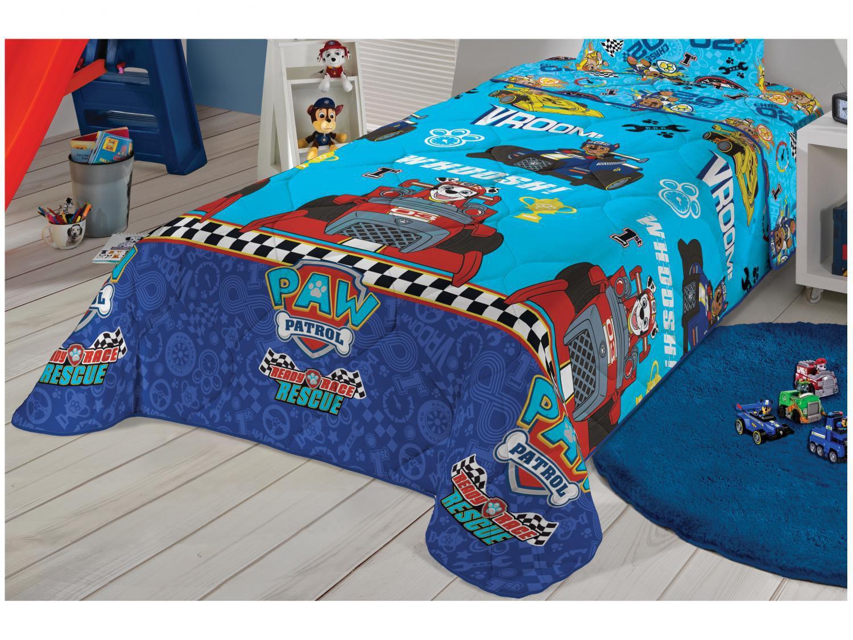 Edredom Infantil Solteiro Lepper Microfibra - Patrulha Canina Azul