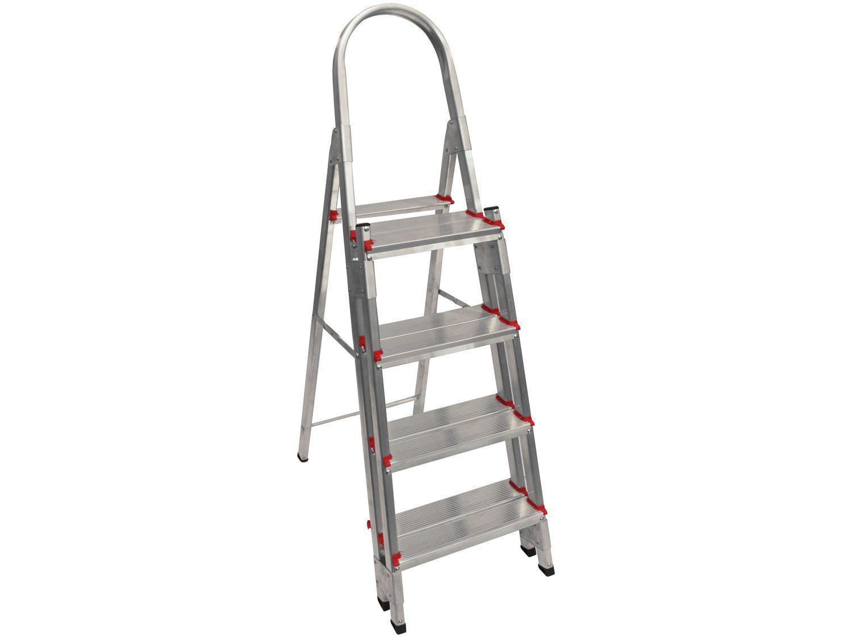 Escada de Alumínio Cavalete 4 Degraus - Doméstica Art Factory EDD 04