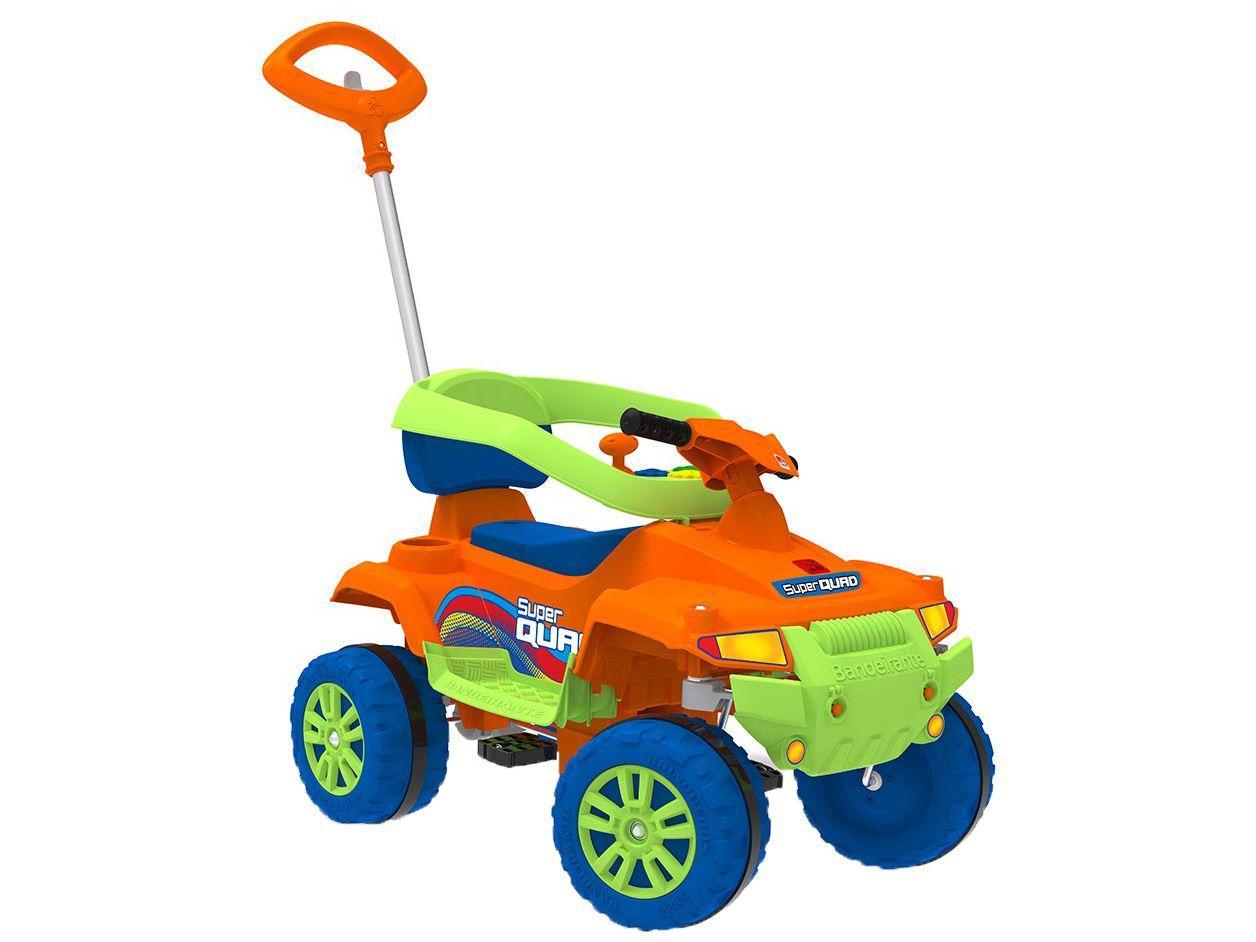 Carrinho de Passeio Infantil Superquad - com Pedal com Empurrador Bandeirante