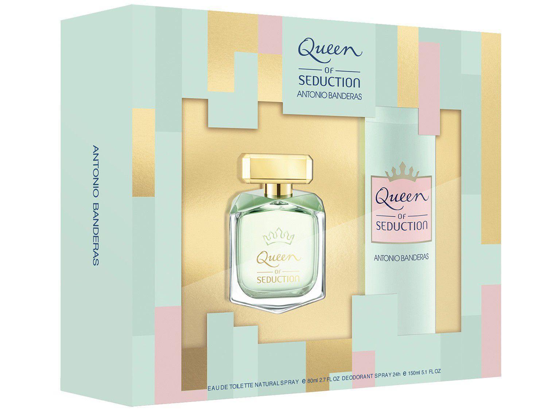 Kit Perfume Antonio Banderas Queen Of Seduction - Feminino Eau de Toilette com Desodorante