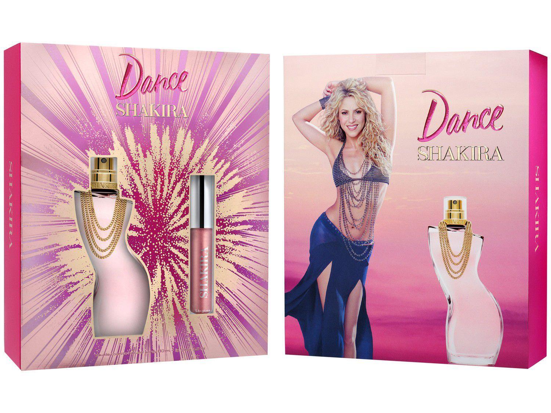 Kit Perfume Shakira Dance Feminino - Eau de Toilette com Gloss 2 Unidades