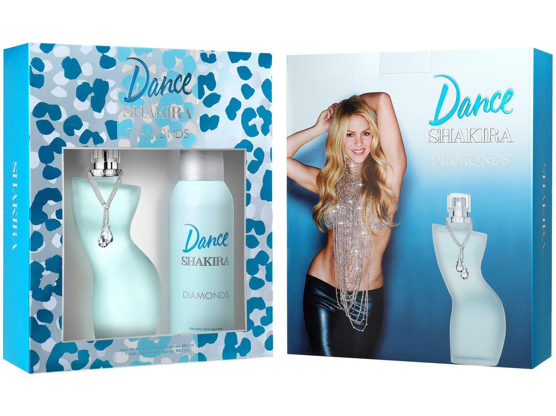 Kit Perfume Shakira Dance Diamonds Feminino - Eau de Toilette 80ml com Desodorante
