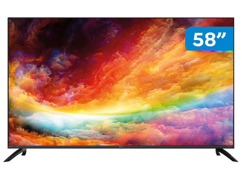 "Smart TV 58"" UHD D-LED Philco PTV58G70RCBL - VA 60Hz Wi-Fi Bluetooth 3 HDMI 2 USB"