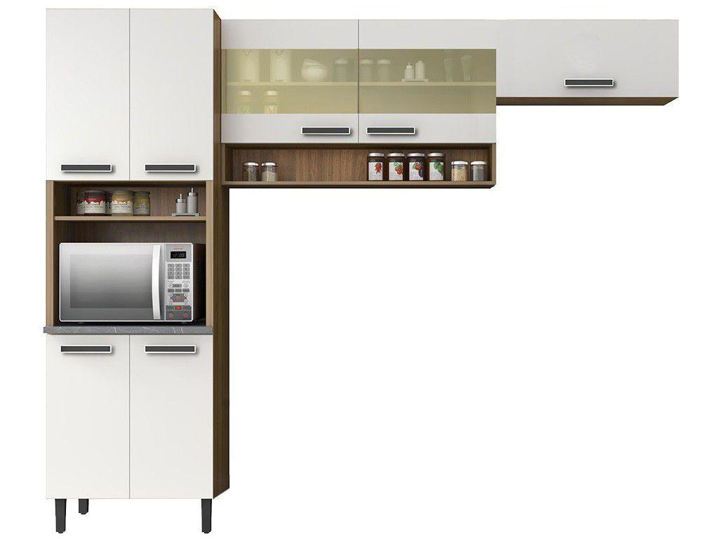 Cozinha Compacta Itatiaia Madeira New Jazz - 7 Portas