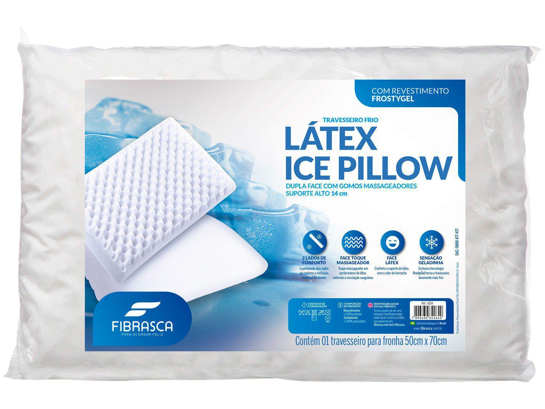 Travesseiro Fibrasca de Cabeça Dupla Face - Látex Ice Pillow