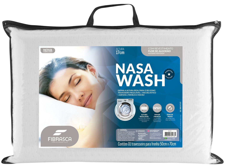 Travesseiro Fibrasca de Cabeça Dupla Face - Nasa Wash