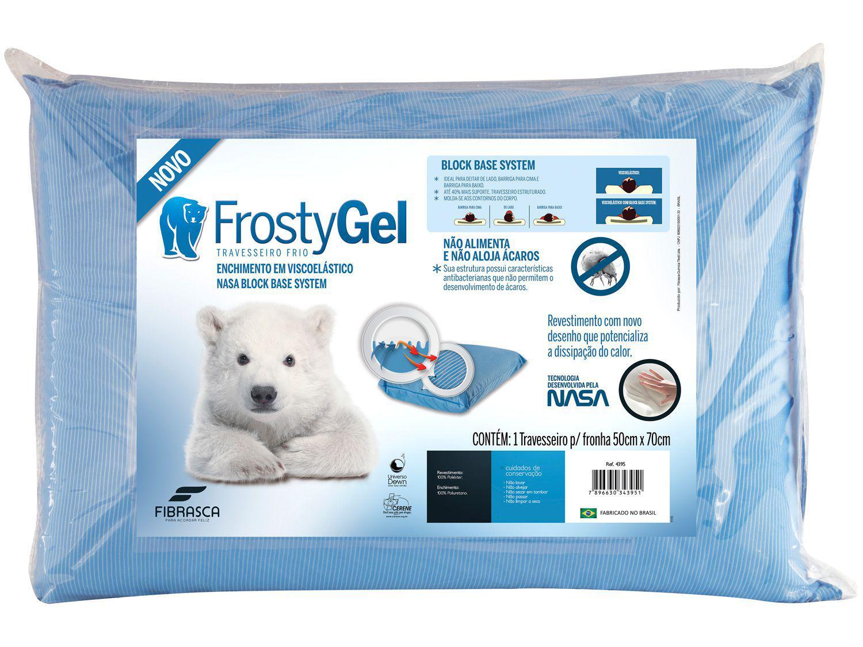 Travesseiro Nasa Fibrasca de Cabeça Viscoelástico - FrostyGel