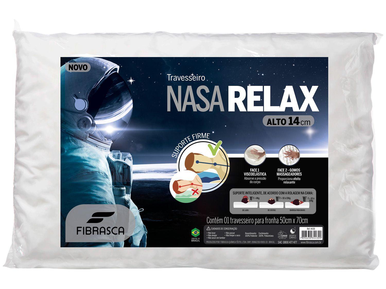 Travesseiro Nasa Fibrasca de Cabeça Viscoelástico - Dupla Face Alto Relax