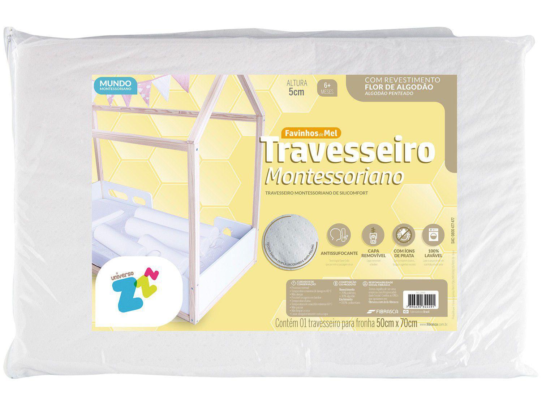 Travesseiro Fibrasca de Cabeça Infantil - Favinhos de Mel Montessoriano