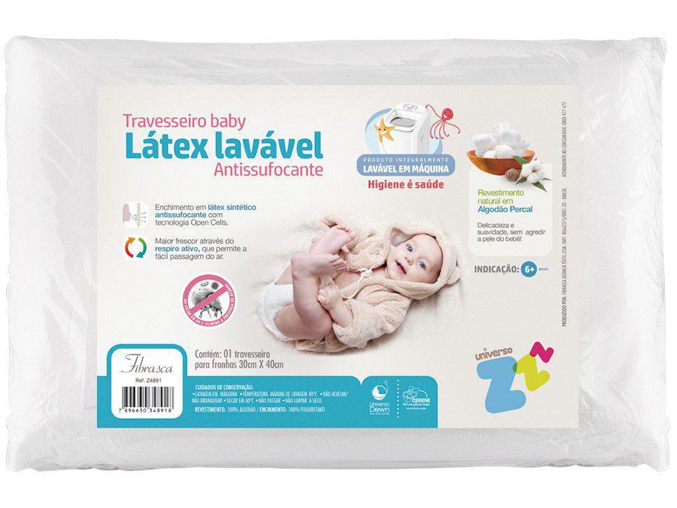 Travesseiro Fibrasca de Cabeça para Bebê - Látex Baby