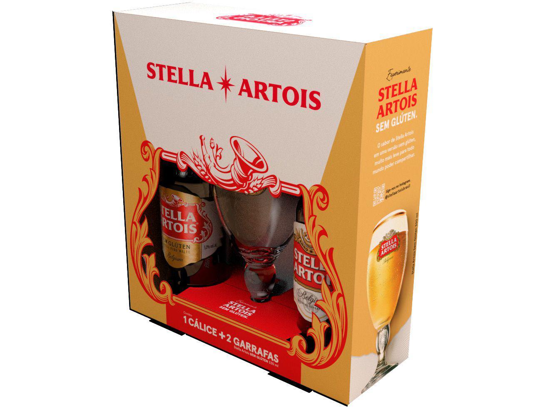 Kit Cerveja Stella Artois Sem Glúten 2 Unidades - 330ml Cada com 1 Cálice