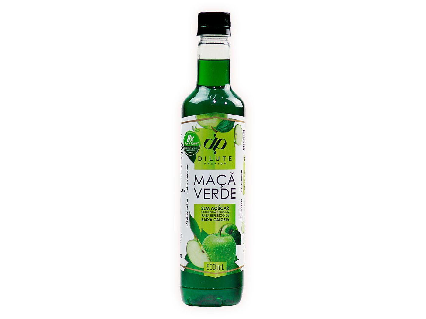 Xarope Dilute Premium Maçã Verde Sem Açúcar 500ml
