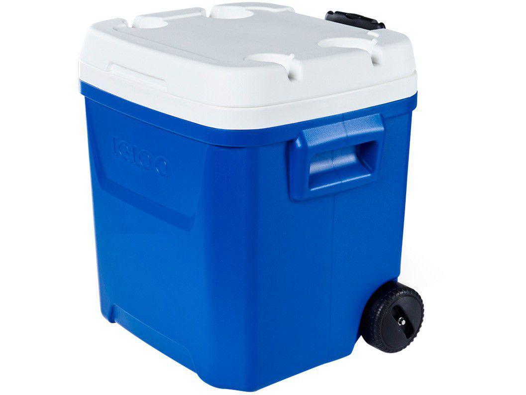 Caixa Térmica Igloo 56L com Rodas Laguna Roller - Azul