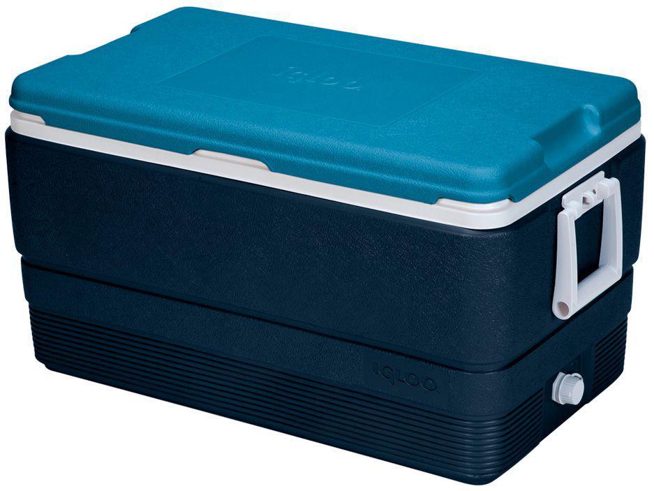 Caixa Térmica Igloo 66L Maxcold Cinza e Azul