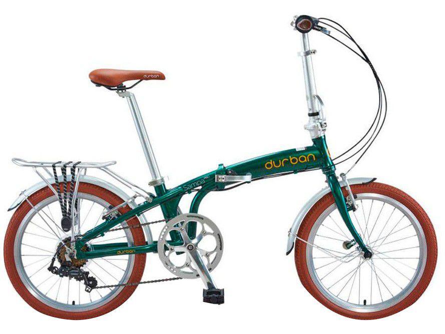 Bicicleta Aro 20 Dobrável Durban Sampa Pró - de Alumínio Freio V-Brake 6 Marchas
