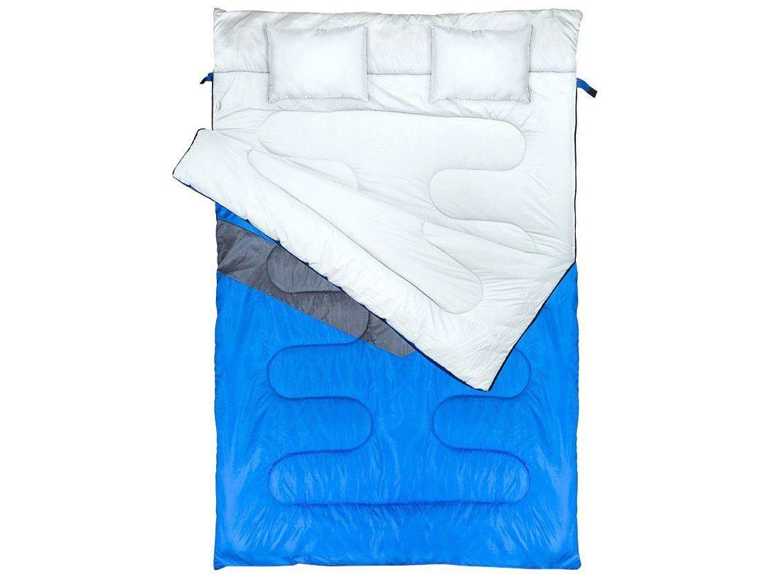 Saco de Dormir Casal NTK Kuple Envelope - com Travesseiro