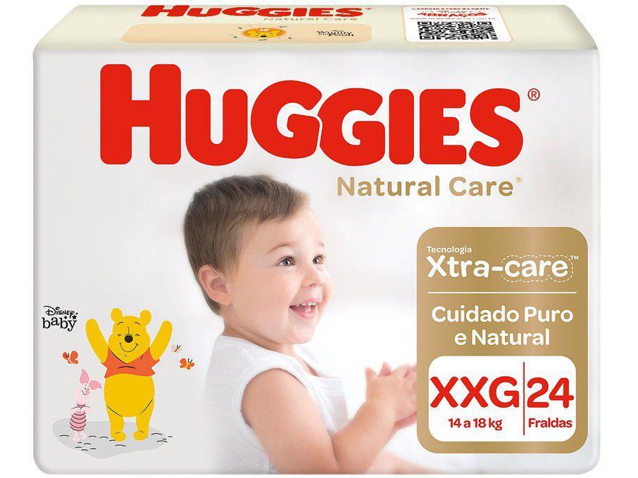 Fralda Huggies Premium Natural Care Tam. XXG - 14 a 18kg 24 Unidades