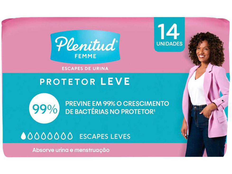 Absorvente para Incontinência Urinária Plenitud - Premium Femme sem Abas 14 Unidades