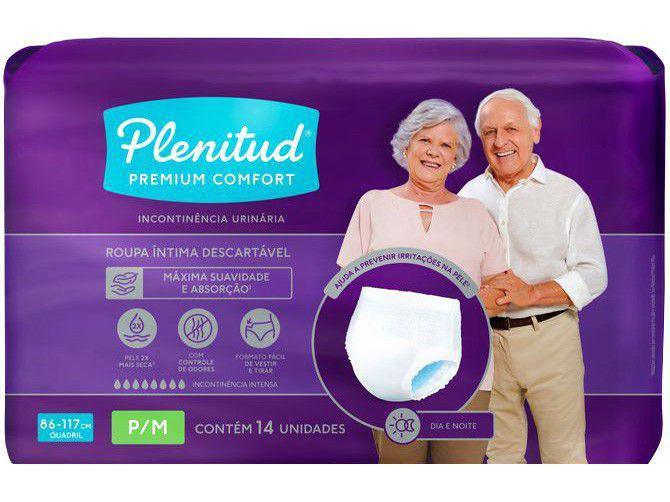 Roupa Íntima Descartável Plenitud P/M - Premium Premium Comfort 14 Unidades