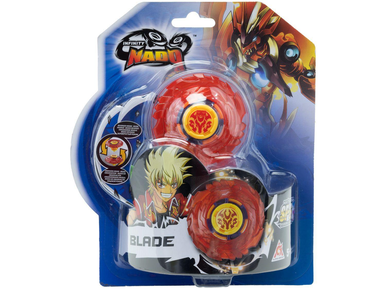 Pião de Batalha Candide Infinity Nado - Plastic Series com Lançador 4 Peças