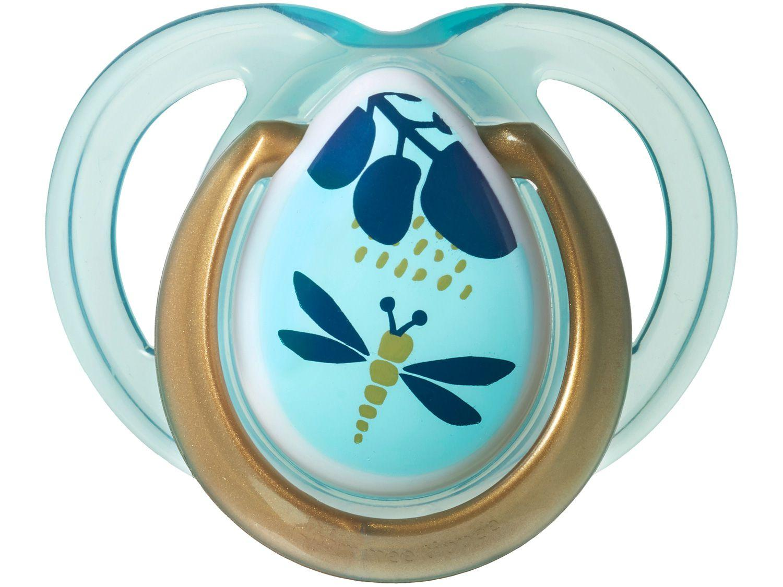 Chupeta Silicone Simétrico e Ortodôntico - Tommee Tippee Moda Azul Animais 0 a 6 meses