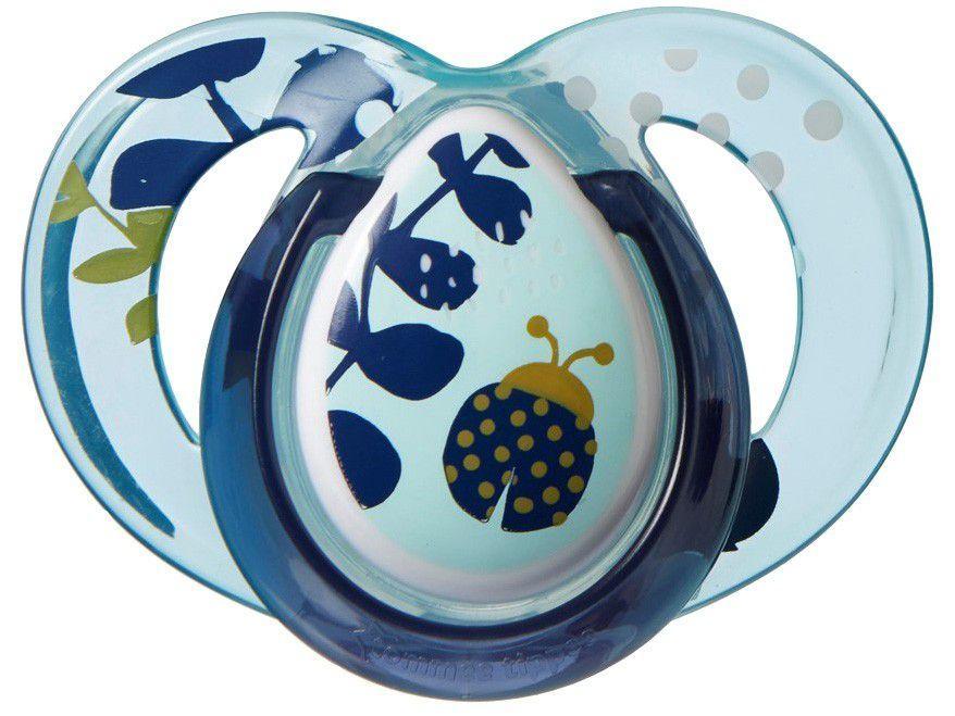 Chupeta Silicone Simétrico e Ortodôntico - Tommee Tippee Moda Soother Azul Animais