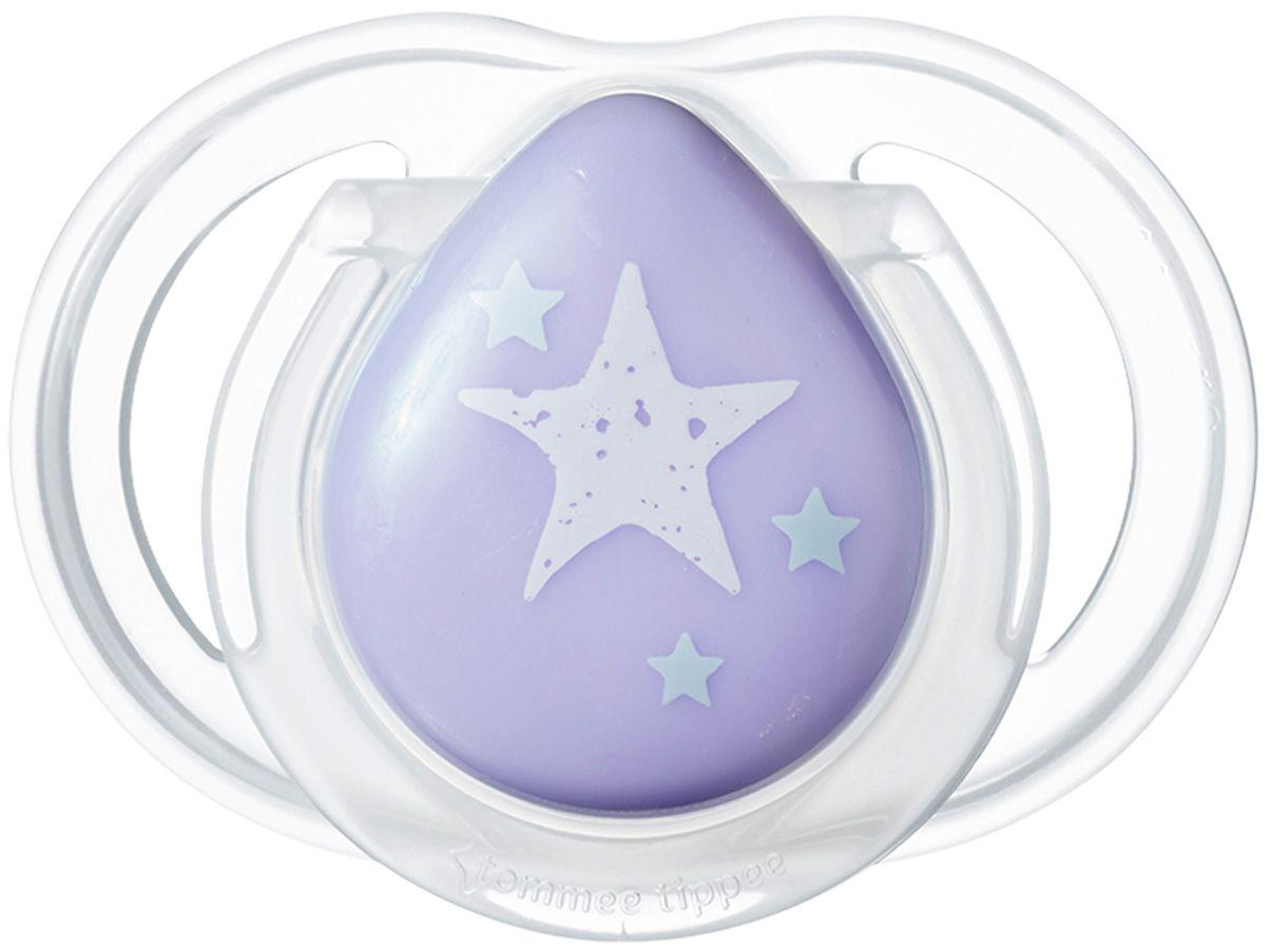 Chupeta Silicone Simétrico e Ortodôntico - Tommee Tippee Newborn Lilás 0 - 2 meses
