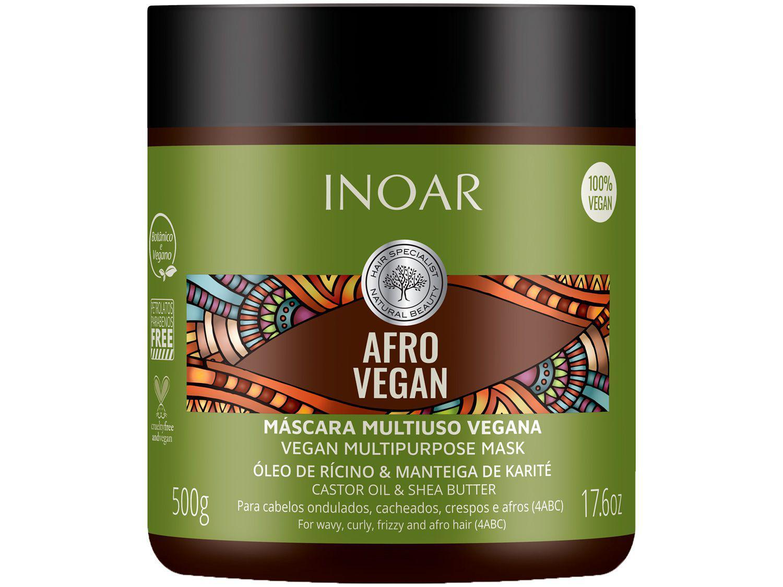 Máscara de Hidratação Inoar Argan Afro Vegan 500g