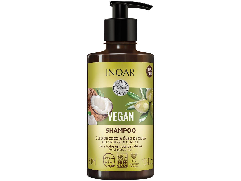 Shampoo Inoar egan Óleo de Coco & Óleo de Oliva - 300ml