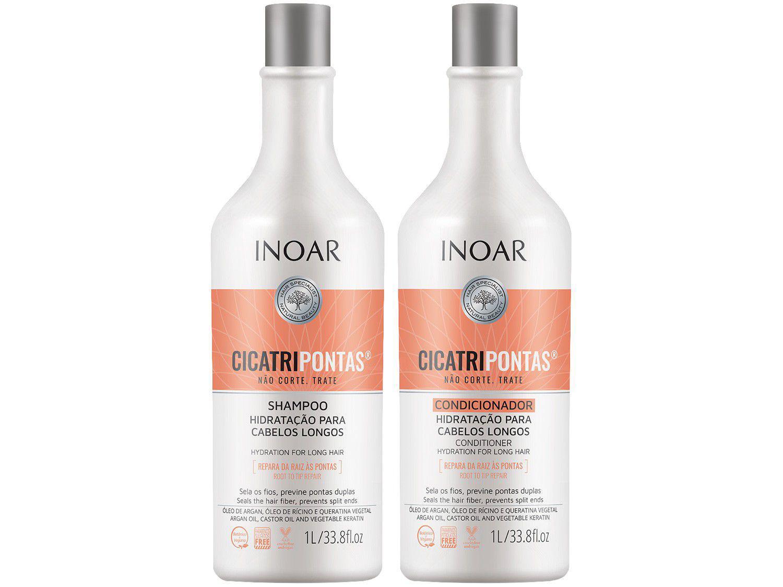 Shampoo e Condicionador Inoar Cicatripontas - 1L Cada