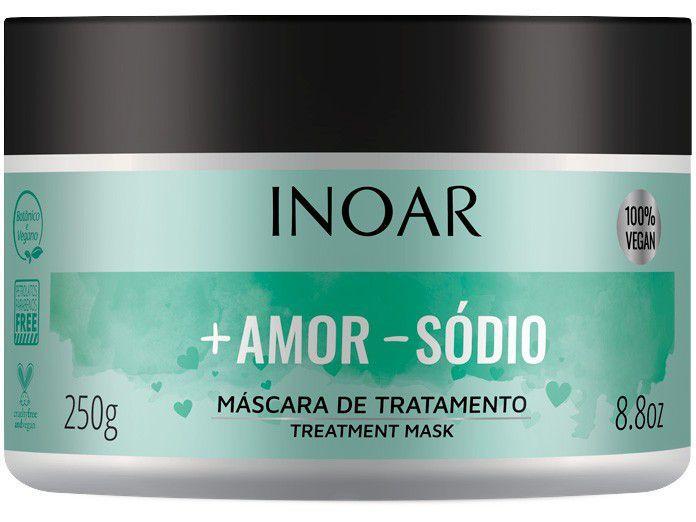 Máscara de Hidratação Inoar + Amor - Sódio - Óleo de flor de Bananeira 250g