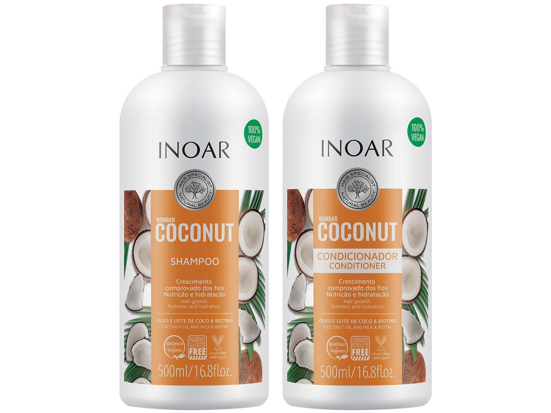 Shampoo e Condicionador Inoar Bombar Coconut - 500ml Cada