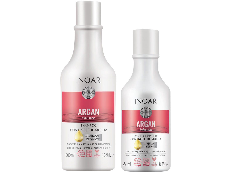 Shampoo e Condicionador Inoar Argan Infusion - Controle de Queda