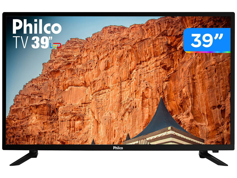 "Smart TV 39"" HD D-LED Philco PTV39N87D - VA 60Hz Wi-Fi 3 HDMI 1 USB"