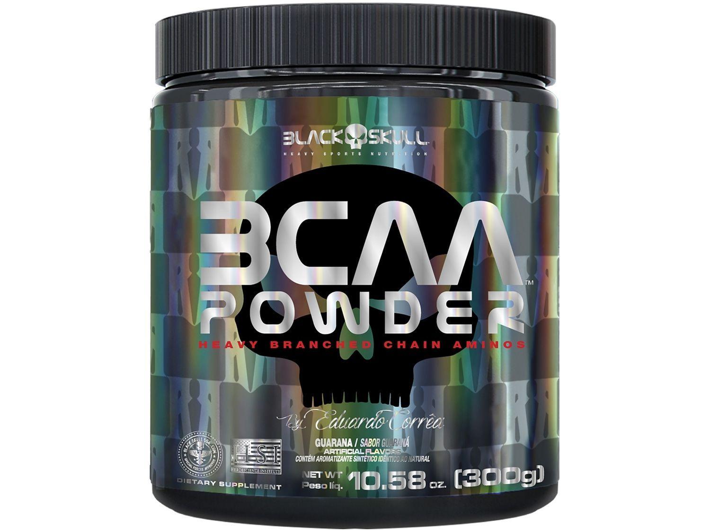 BCAA 2:1:1 Black Skull Powder by Eduardo Correa - em Pó 300g Guaraná