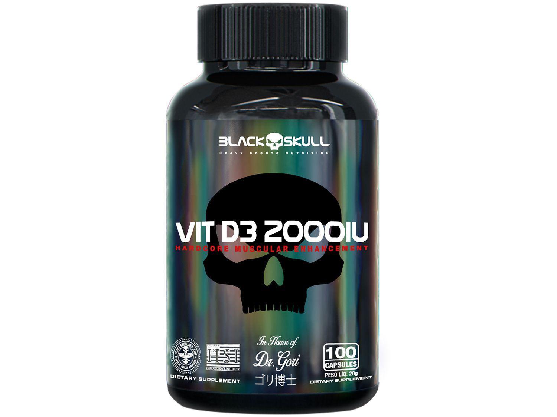 Vitamina D3 2000UI Black Skull 100 Cápsulas