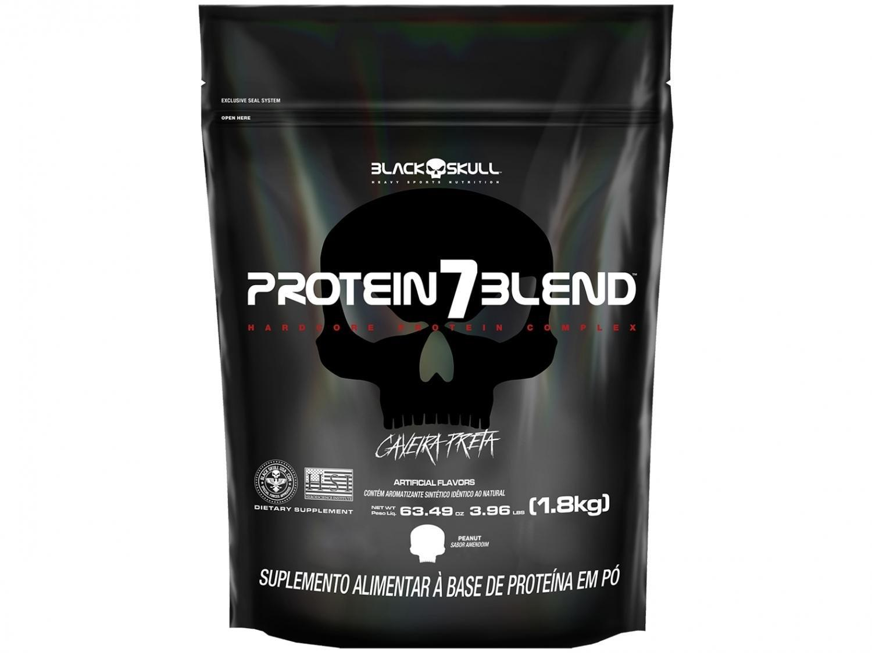 Whey Protein Blend Black Skull Refil Protein 7 - 1,8kg Amendoim