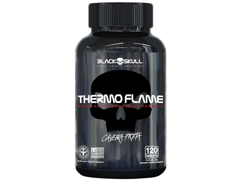 Termogênico Black Skull Thermo Flame - 120 Tabletes sem Sabor