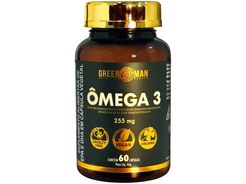 Ômega 3 Green Man DHA EPA Alga em Cápsulas - 60 Cápsulas