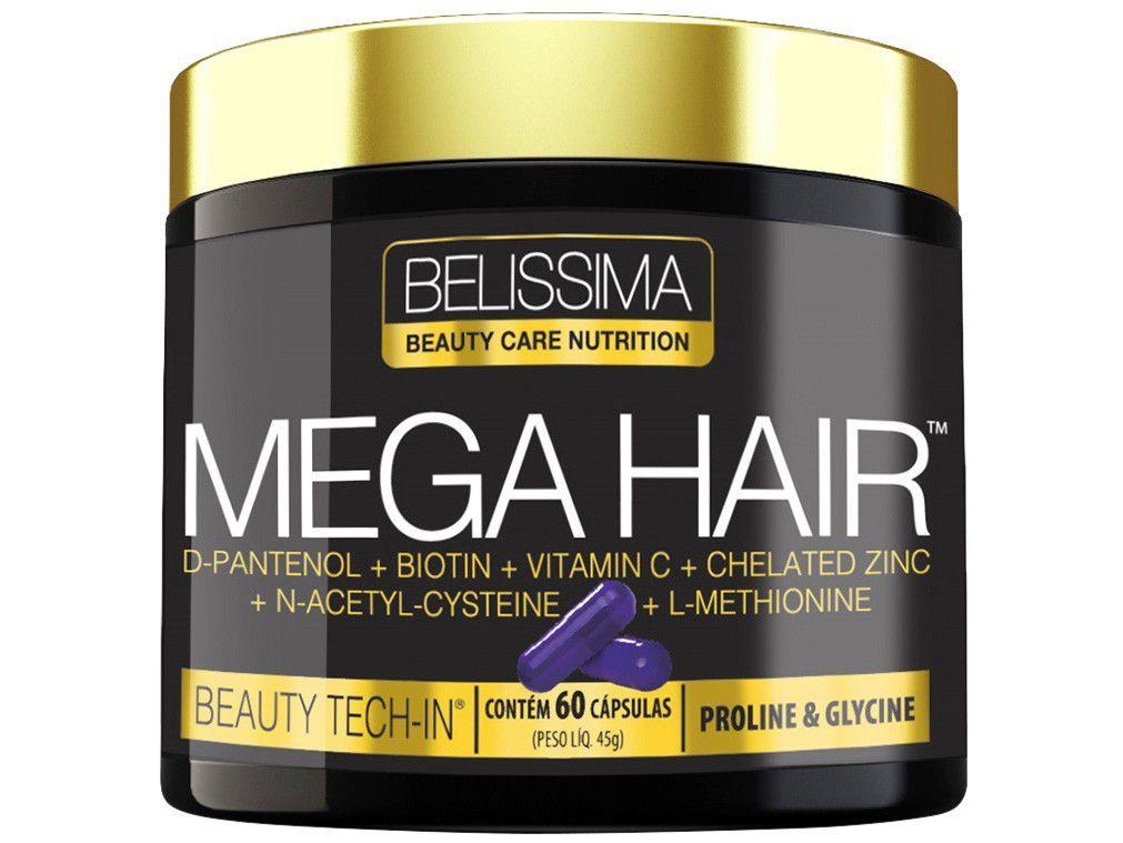 Multivitamínico Belíssima Mega Hair 60 Cápsulas