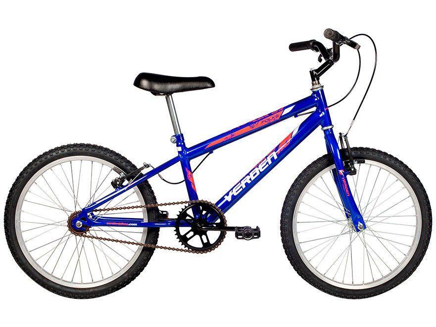 Bicicleta Infantil Aro 20 Verden Folks Azul - Freio V-Brake