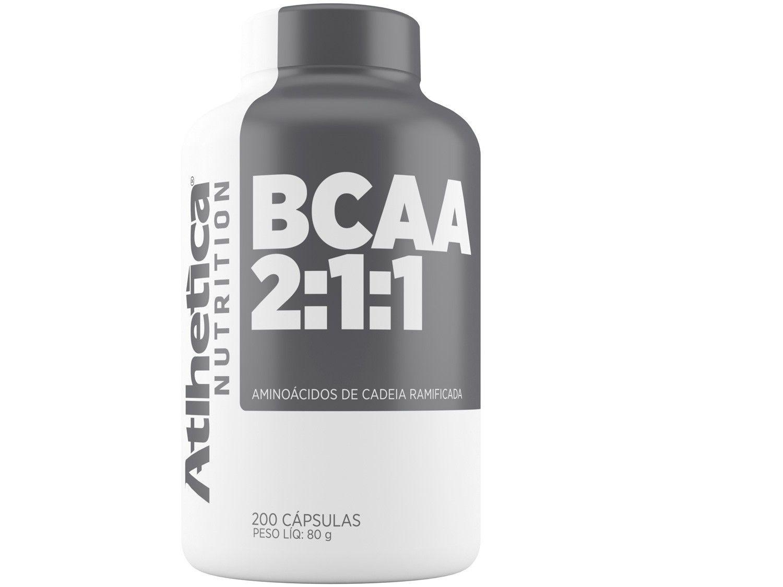 BCAA 2:1:1 Atlhetica Nutrition em Cápsulas - 200 Cápsulas