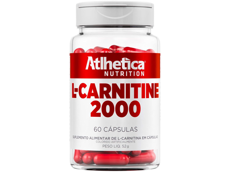 L-Carnitina Atlhetica Nutrition L-Carnitine 2000 - em Cápsulas 52g Sem sabor Diet