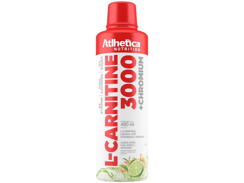 L-Carnitina Atlhetica Nutrition L-Carnitine 3000 - Líquido 480ml Limão, Gengibre e Chá Verde
