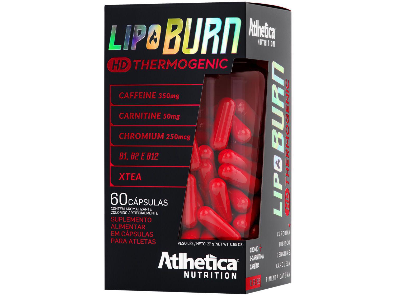 Termogênico Atlhetica Nutrition Lipo Burn HD - Thermogenic em Cápsulas 27g sem Sabor Diet